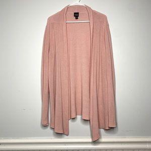 Eileen Fisher Blush Silk Blend Layer Open Cardigan